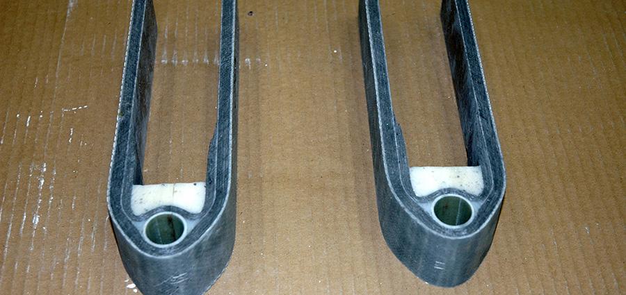 Custom Carbon Fibre Gudeons
