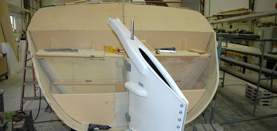Custom Yacht Build Rudder