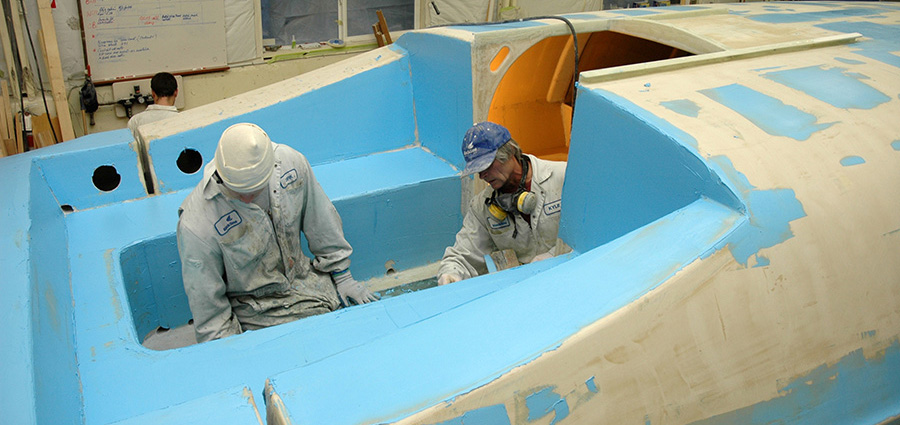 Fibreglass Hull Finishing