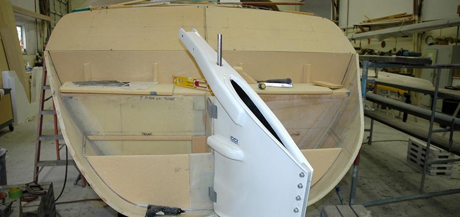 Custom Yacht Build Rudder