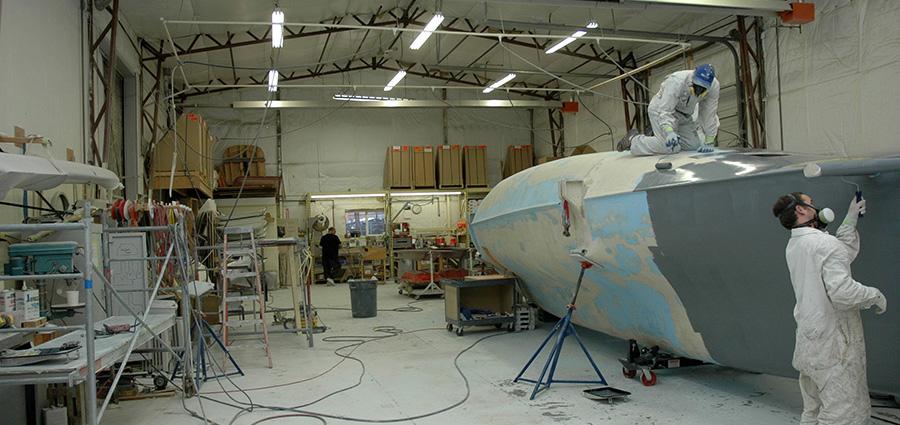 Painting New Fibreglass Hull