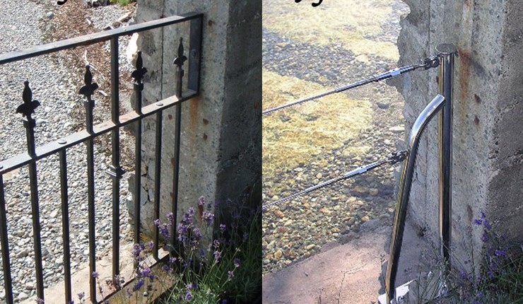Nautical Fence Before and After