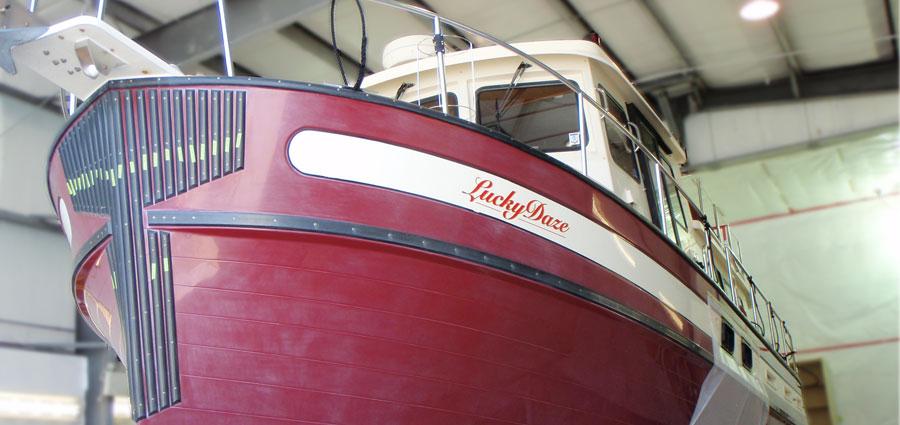 Nordic Tug Hull Refinishing Before